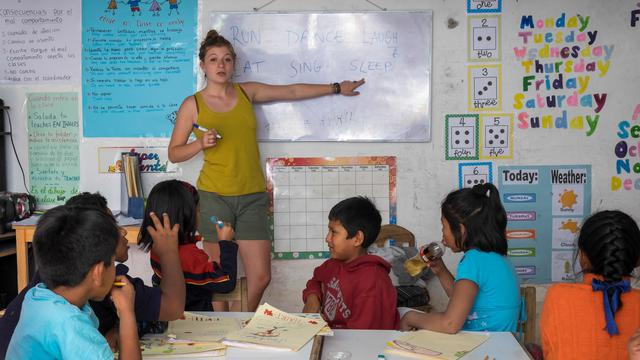Program assistant - supporting an educational project in Peru's impact photo