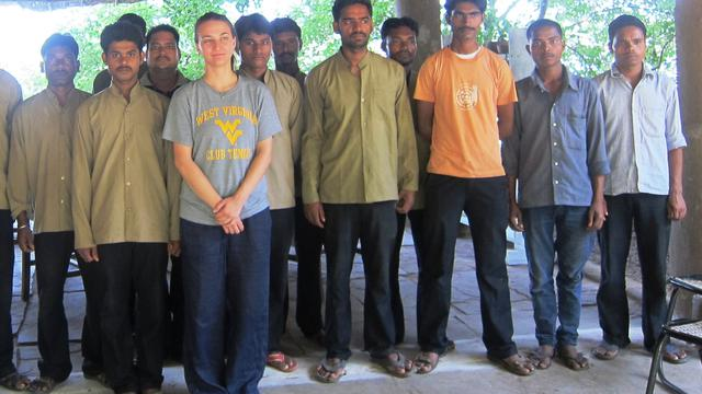 Teaching in villages's team photo