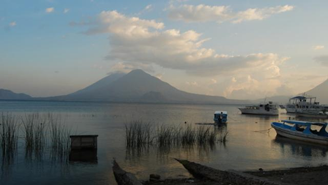Supply Chain Management on beautiful Lake Atitlan in Guatemala's city photo