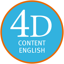 4D Content English logo